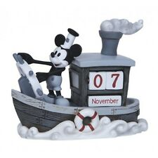 Precious Moments Disney Perpetual Calendar Figurine Vintage Mickey Mouse Willie