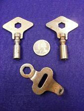 """Pair Of Vtg Antique Roller Skate Keys - 2x """"Chicago"""" Brand + Small Skate(?) Tool"""