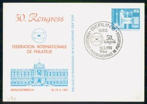 MayfairStamps Germany 1981 International Philatelic Congress Wien Event Statione