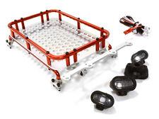 1/10 Scale Luggage Rack 154x98x33mm w/4 LED Light Trx4/Crawler US Seller
