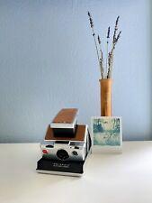 Vintage Polaroid SX-70 Land Camera Chrome & Tan Leather - Film Tested & Works!