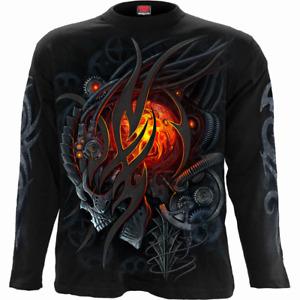 Spiral Direct STEAMPUNK SKULL Long Sleeve T-shirt/Biker/Goth/Skull/Music/Top