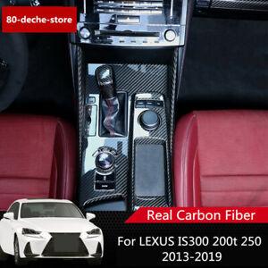 For LEXUS IS300 250 200t 2013-2019 Real Carbon Fiber Inner Gear Shift Box Frame
