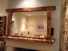 Bobbi's Brittany a rustic mirror with 7 tea-lights