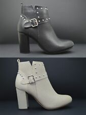 Tronchetti donna con le borchie stivaletti bassi con le fibbie stivali con tacco