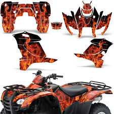 Honda Rancher 420 Graphic Kit ATV Quad Decals Sticker Wrap 2007-2013 ICE ORANGE