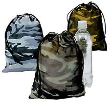 Camouflage Army Party Military Camo Pack of 12 Drawstring Gift Bags Sacks