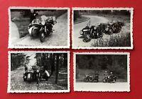 4 x altes Motorrad Foto IFA Motorrad mit Beiwagen Typen  ( 40643