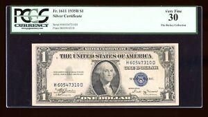 $1 1935-B Silver Vinson HD Block Fr. 1611 PCGS 30 Serial H60547310D