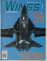 Wings April 1992 Airplane Magazine - Farewell F-111 - Combat Ace
