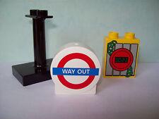 LEGO DUPLO Cars 5828 Halter schwarz + 2 Motivsteine NEU