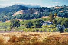 June Carey ALEXANDER VALLEY WINERY Masterwork™ giclee canvas California vineyard