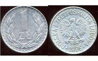 POLOGNE  1 zloty  1976