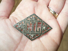BEAUTIFUL ANTIQUE or VINTAGE ART NOUVEAU STERLING SILVER & MARCASITE  PIN BROOCH