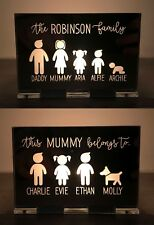 Personalised Gifts For Daddy Grandad Mummy Nanny Grandma Mum Family Candle Gifts