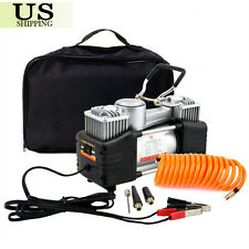12V Auto Car Air Compressor Tire Pump Electric Double-Cylinder Inflator 150PSI