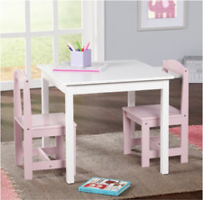 Study Small Table and Chair Set Generic 3 Piece Wood Toddler Kids Furniture Play