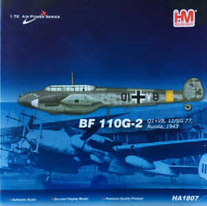 HOBBYMASTER 1/72 HA1807 MESSERSCHMITT BF 110G-2 1943 *MIB*