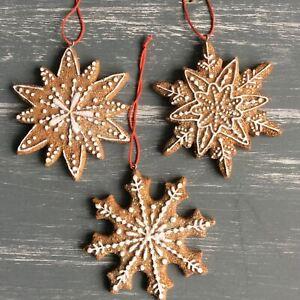 Gingerbread Snowflake Christmas Decoration Gisela Graham