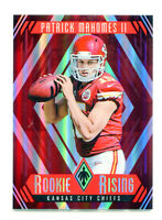 PATRICK MAHOMES 2017 Panini Phoenix Rookie Rising Red Chiefs Card RC SP 283/299