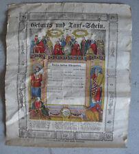 Original Unused 1800s German PA Dutch Birth Certificate LOOK