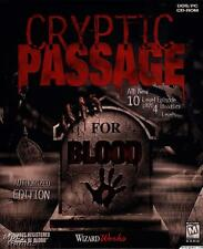 Cryptic Passage for Blood PC CD dark gothic shooter game INCLUDE MANUEL/DISC #30