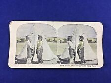 Stereoscope Card Entitled Sioux Indians-Two fine types of a dying breed