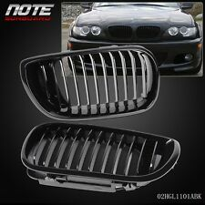 2 pcs Front Bumper Kidney Grille For 2002-2005 BMW 3-Series E46 4-DOOR 03 04
