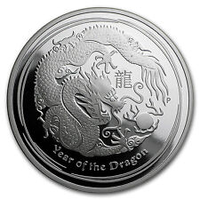 2012 Australia 1 oz Silver Year of the Dragon Proof - SKU #64207