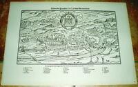 Plauen alte Ansicht um 1550 Druck Bannstaedte 1940 Städteansicht Sachsen