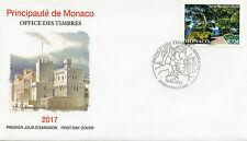 Monaco 2017 FDC Saint-Martin's Gardens 1v Set Cover Plants Trees Stamps