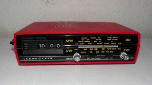 Vintage-Rollzahlen-Klappzahlenwecker-Radiowecker-Tischuhr-Flip Clock-Loewe-top