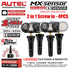 Autel MX-Sensor 315+433 Programmable Universal TPMS Sensor For Ford Vauxhall 4PC