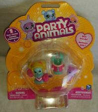 Party Animals Best Friends 2 Mini Bears & 2 Costumes Dangler Spin Master New