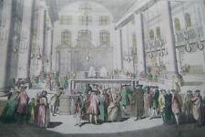 JUDAICA JUIF SYNAGOGUE 1760 AMSTERDAM PORTUGAIS GRAVURE MARANE POURIM R2110
