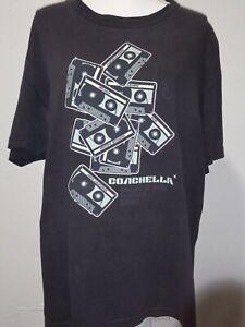 Coachella Music and Arts Festival 2005 Size L black 1-sided t-shirt