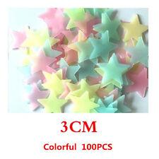 100x Wall Glow In The Dark Stars Stickers Bedroom Nursery Room Ceiling Decor US