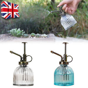 Retro Glass Plant Mister Indoor Watering Can House Water Spray Sprayer Bottle UK
