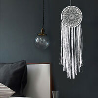CW_ Crochet Lace Tassel Dream Catcher Home Office Wedding Wall Hanging Craft Dec
