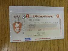 30/11/2002 Ticket: Rotherham United v Wolverhampton Wanderers (Sponsors Box, Com