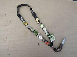 16 x Asda Pin Badges job lot on a lanyard with pen (A619)