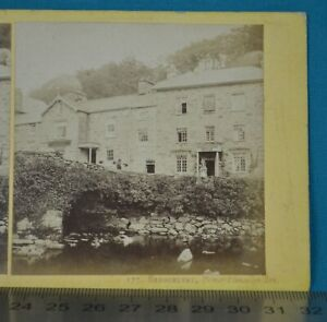 1860s Stereoview Photo Beddgelert Prince Llewellyn Inn Francis Bedford N Wales