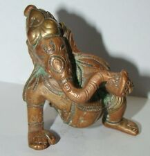 A Bronze made Vintage statue of Lord Bal Ganesha Elephant Buddha with Silver Art