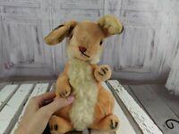 Steiff ? vintage mohair rabbit bunny standing orange plush stuffed vtg toy