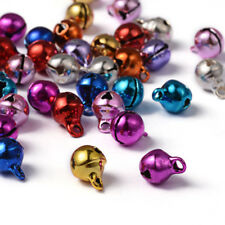 100x Brass BELLS TINKLING MIXED COLOUR BELL CHRISTMAS 8mm Charms Pendants Beads
