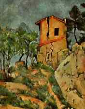 A4 Photo Cezanne Paul 1839 1906 Cezanne 1953 The House with the cracked walls Pr