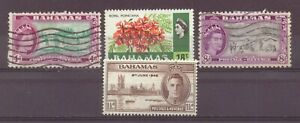 Bahamas, World War Two Peace, & Queen Elizabeth, MH, Used, 1946, 1954, 1971, OLD