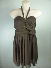LISPY LONDON brown halter mock wrap dress, weddings parties Races 12