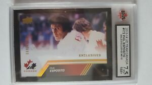 Phil Esposito 2013-14 Team Canada Gold Exclusives Hockey Card #6/10 Graded 7.5!!