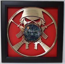 Iron Maiden Framed Laser Cut Gold Plated Vinyl Record Shadowbox Wallart